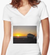 Tide Out, Sun Down Women's Fitted V-Neck T-Shirt