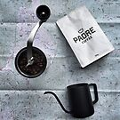 Coffee and Maps Series: Padre Coffee and Hario hand grinder by bikehikebrew