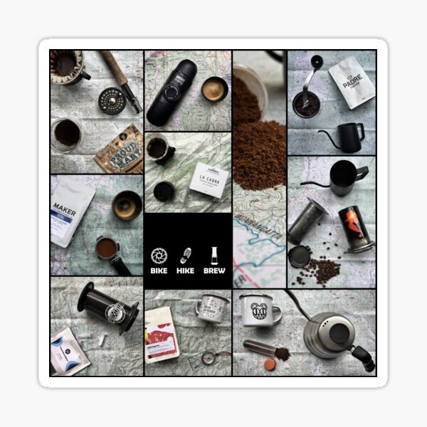 Coffee and Maps Series: Complete Collage Sticker