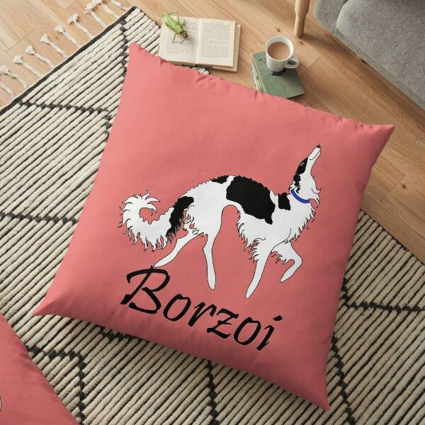 Tri Borzoi Floor Pillow