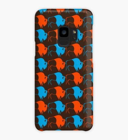Orange Blue Buffalo Nation Case/Skin for Samsung Galaxy
