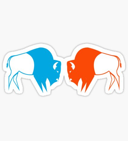 Orange Blue Buffalo Nation Sticker