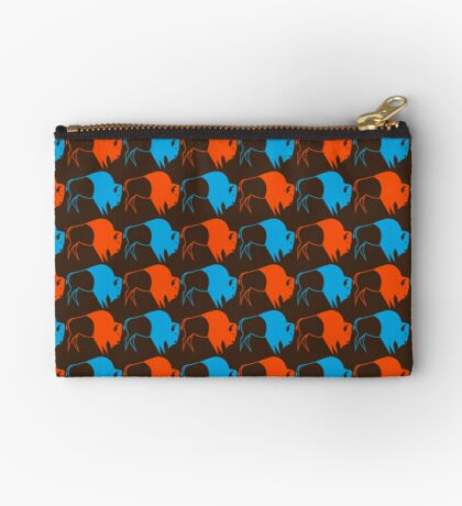Orange Blue Buffalo Nation Studio Pouch