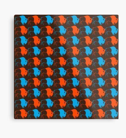 Orange Blue Buffalo Nation Metal Print