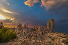 Mono Lake Stormy Sunset by photosbyflood
