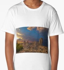 Mono Lake Stormy Sunset Long T-Shirt