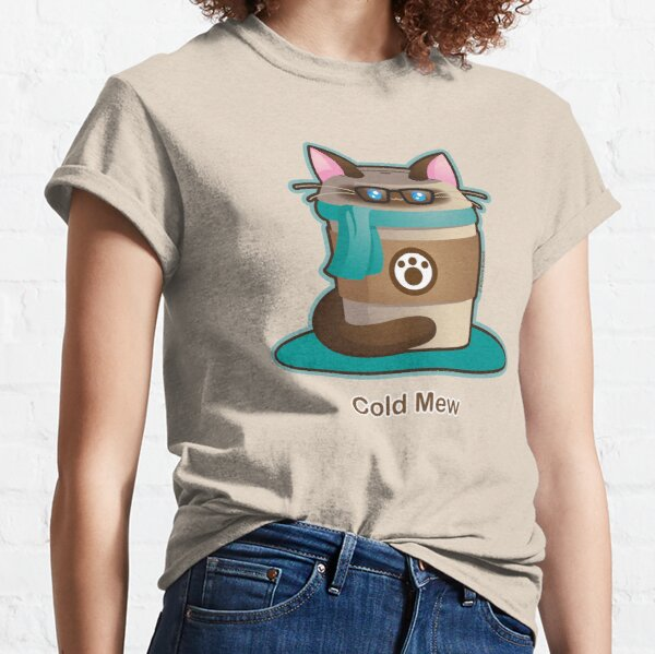 Purrista Pawfee: Cold Brew Hipster Cat Classic T-Shirt
