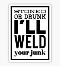 Weld what (black) Sticker