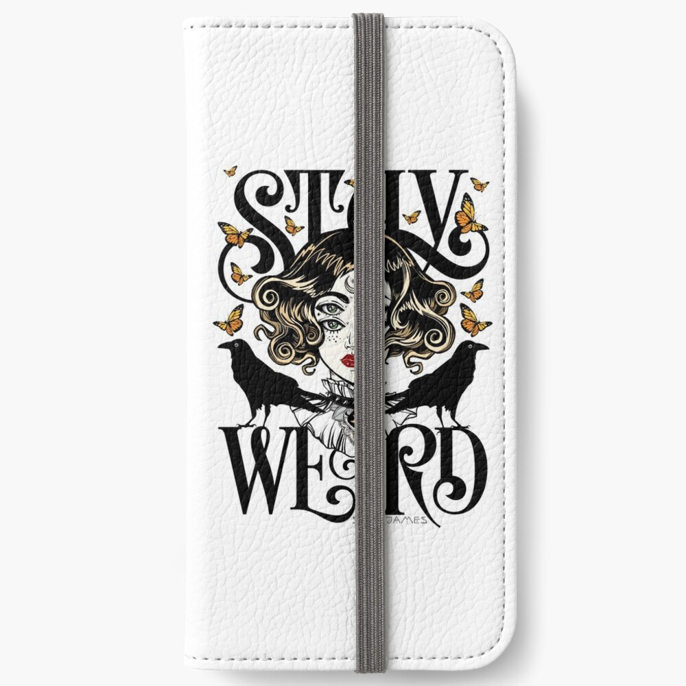 Rose und die Ravens {Bleib Weird} Color Version iPhone Flip-Case