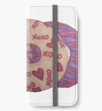 Valentinsgrüße Donut iPhone Flip-Case/Hülle/Klebefolie