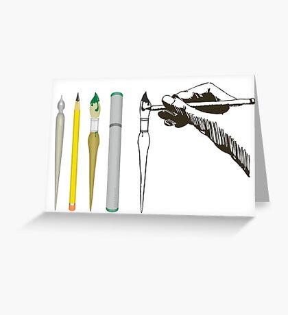 Drawing Art Supply VRS2 Greeting Card