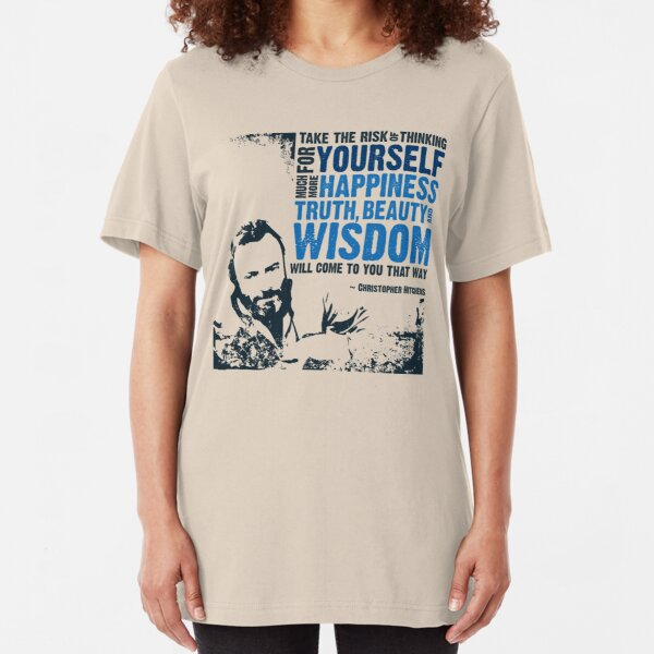 Christopher Hitchens: Think For Yourself Slim Fit T-Shirt
