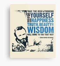 Christopher Hitchens: Think For Yourself Metal Print