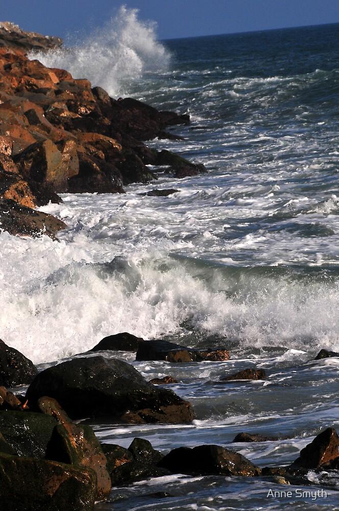 Ocean vs Rocks by Anne Smyth