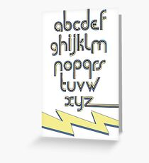 Electric Alphabet  Greeting Card