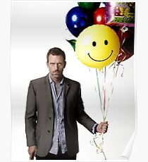 Dr. House Balloons Poster