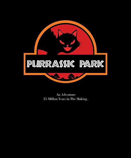 PURRASSIC PARK T-SHIRT by JamesK1