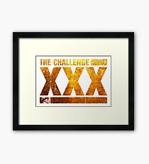 The Gold Logo Of The Challenge Series Framed Print