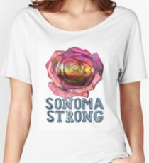 #SONOMAStrong Campaign  Women's Relaxed Fit T-Shirt