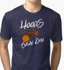 Hoops Every Day (white) Tri-blend T-Shirt