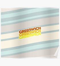 Greenwich | Retro Stack Poster