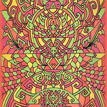 Himalyan Inspirations of Orange Hues by sharpie