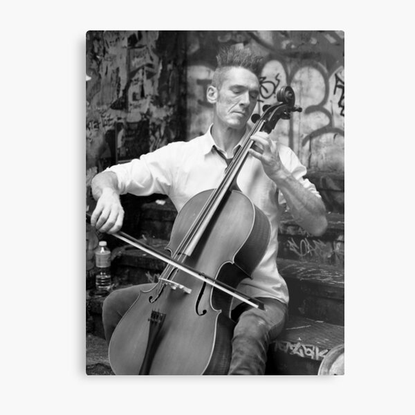 A Man and His Instrument Metal Print