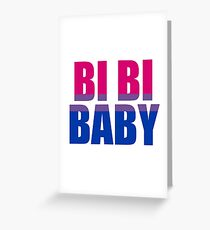 Bi Bi Baby Greeting Card