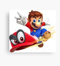 Mario & Cappy Canvas Print