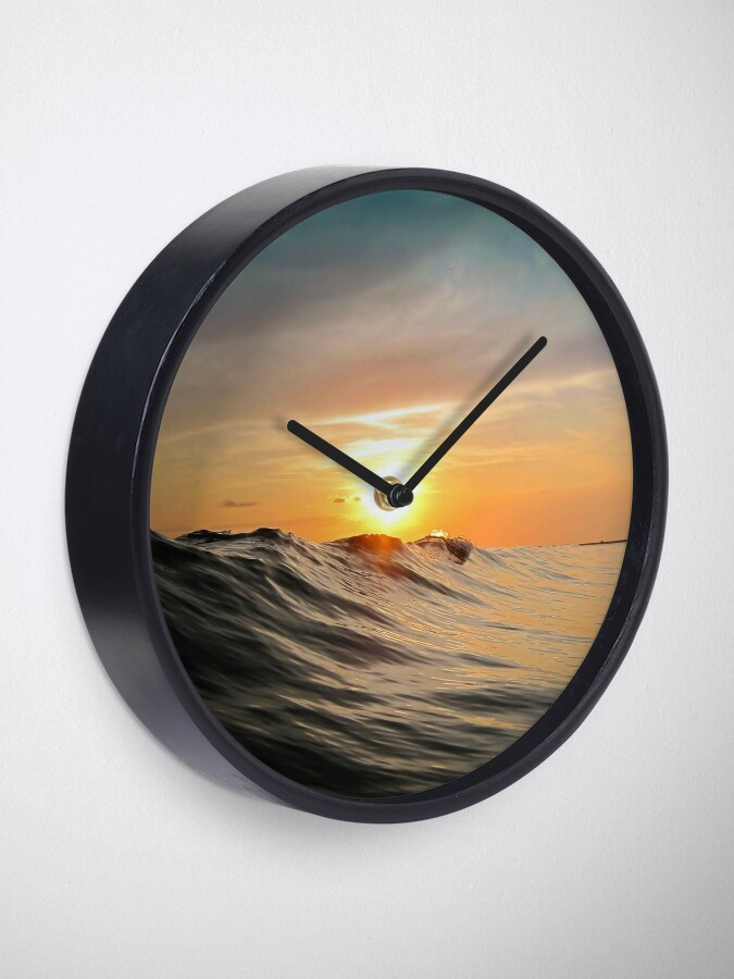 Alternate view of Sunset in Paradise Clock