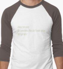 The Flash (Cisco's shirt) - Haikus are easy, but sometimes they don't make sense Refrigerator  Men's Baseball ¾ T-Shirt
