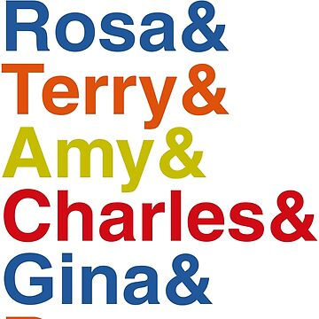 Jake & Rosa & Terry & Amy & Charles & Gina & Ray. by sky-alive