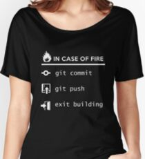 Git commit exit - in case of fire Women's Relaxed Fit T-Shirt