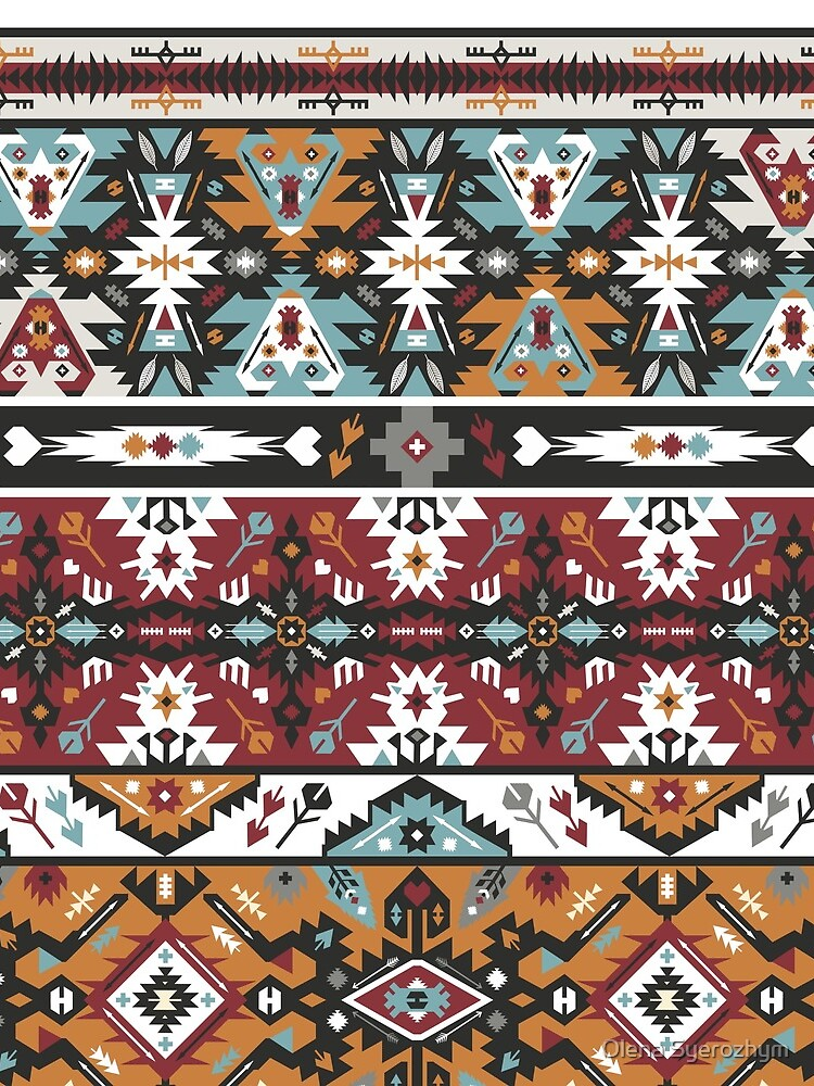 Fancy abstract geometric pattern in tribal style by tomuato