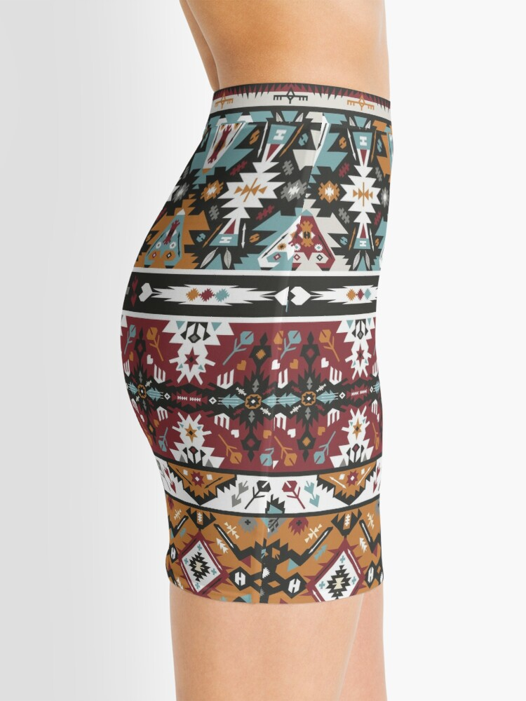 Alternate view of Fancy abstract geometric pattern in tribal style Mini Skirt