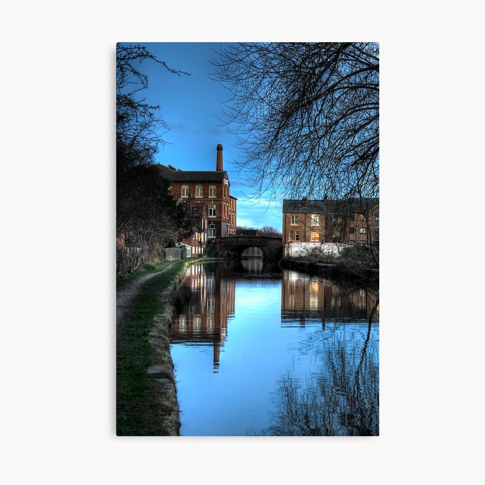 Canal at Dusk Canvas Print