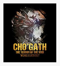 League of Legends CHO`GATH - The Terror Of The Void Photographic Print