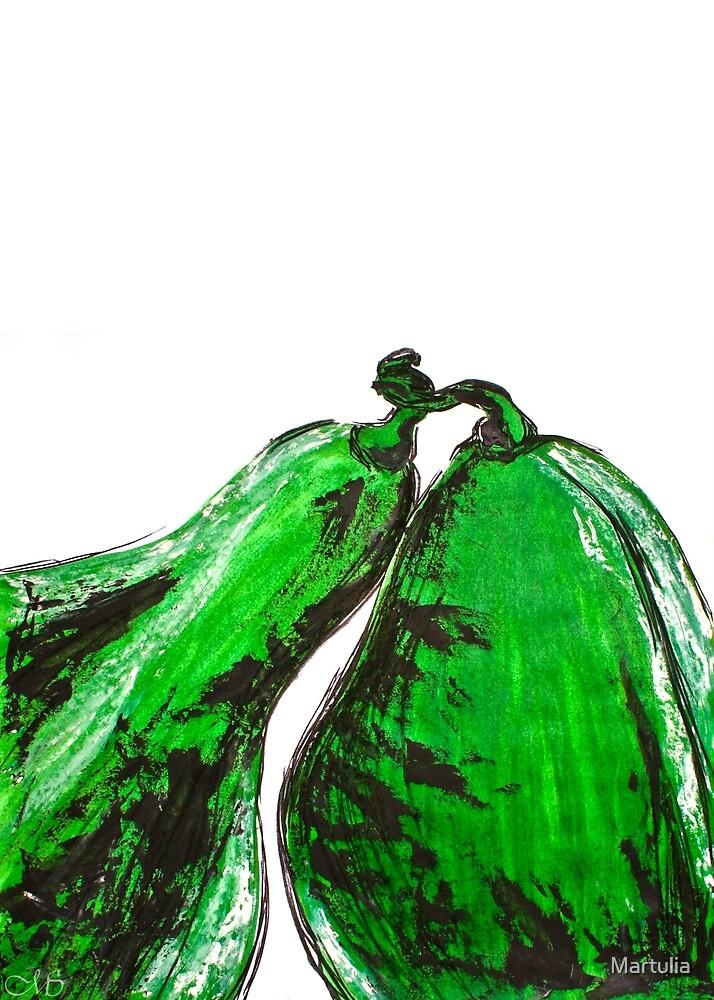 Green pumpkins by Martulia