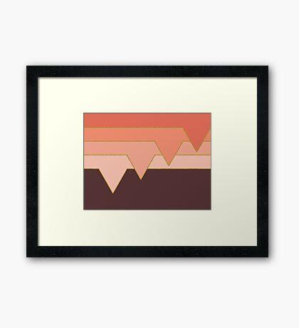 Pink Clouds #redbubble #decor #buyart Framed Print