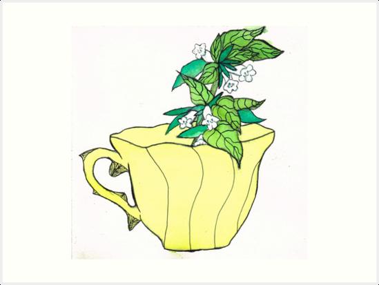 Lemon Balm by Rose Blossom Art