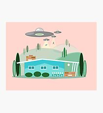 Atomic Sci-Fi Abduction Photographic Print