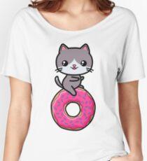 Cat Kawaii Donut Cute Women's Relaxed Fit T-Shirt