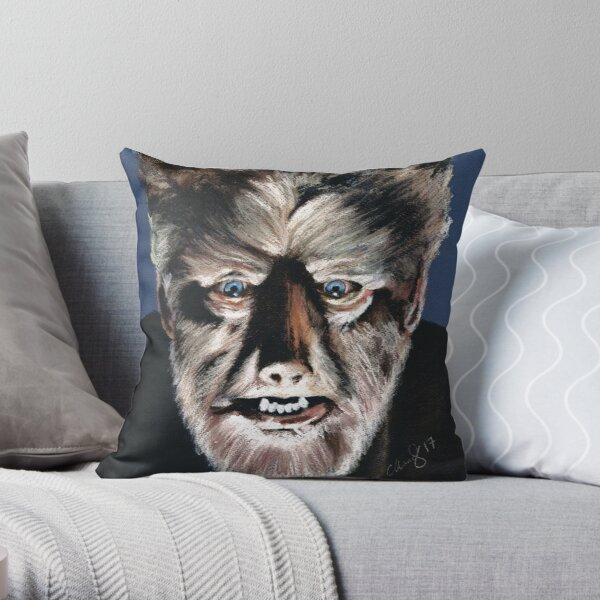 The Wolfman - Lon Chaney Throw Pillow
