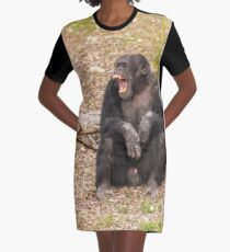 Chimpanzee Graphic T-Shirt Dress