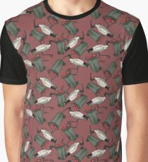 Bin Chicken - Maroon Graphic T-Shirt