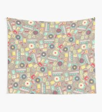 Retro Music Collection Wall Tapestry