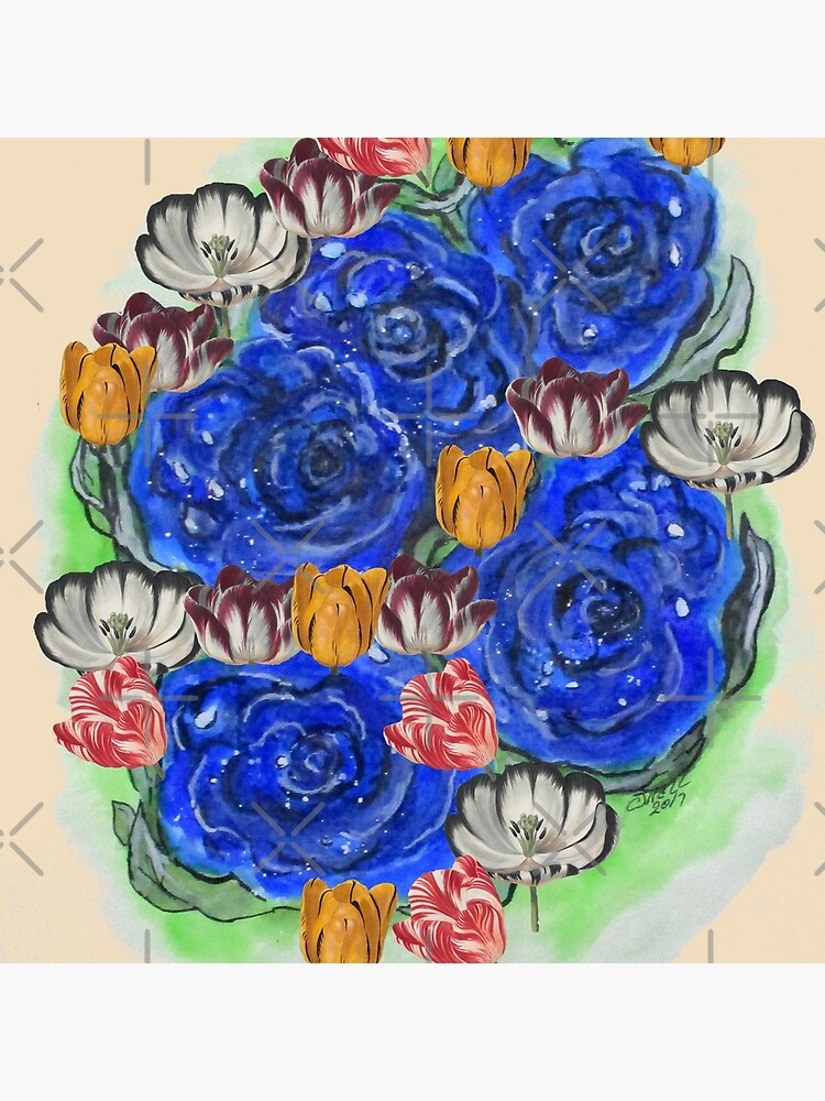 Blue Roses and Tulip Fantasy by cjkell