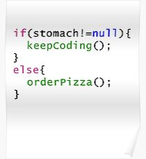 Funny code - Order Pizza Poster
