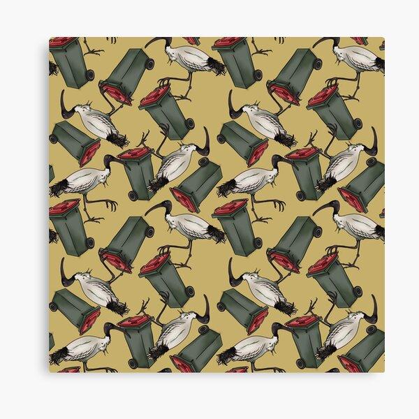 Bin Chicken - Mustard Canvas Print