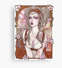 Steampunk Sexy Pin Up Canvas Print